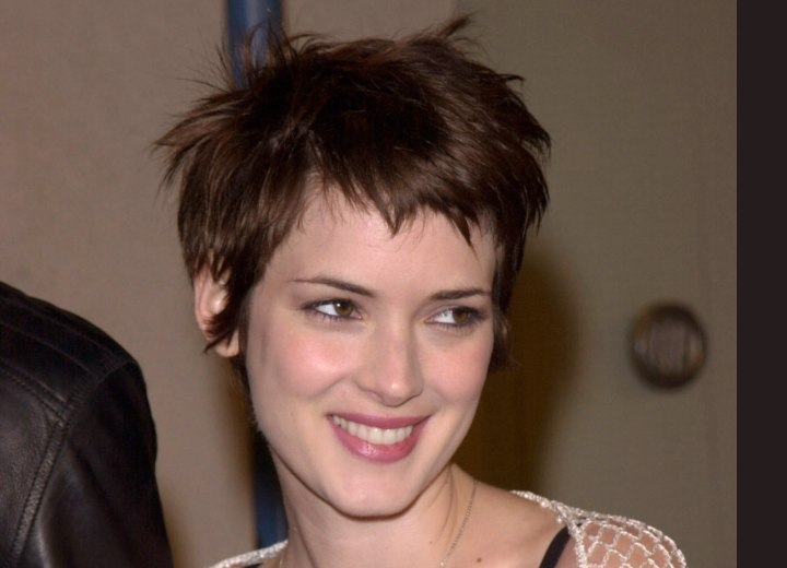 Winona Ryder - Pixie with shattered lines