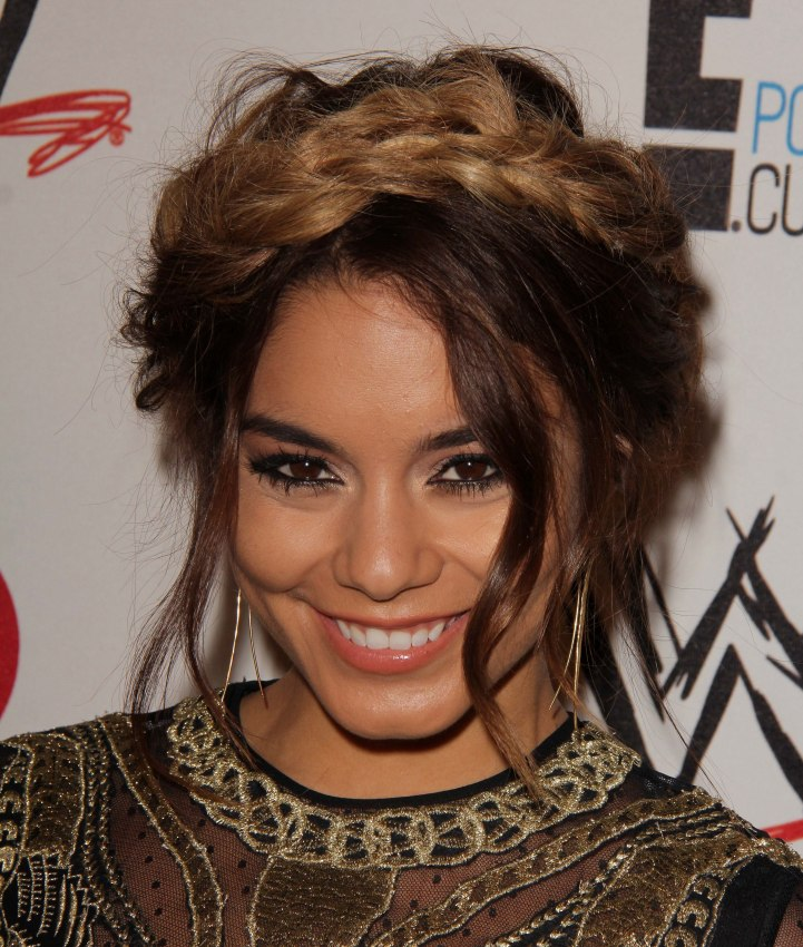 Vanessa Hudgens Braided Hair Extensions Ombre