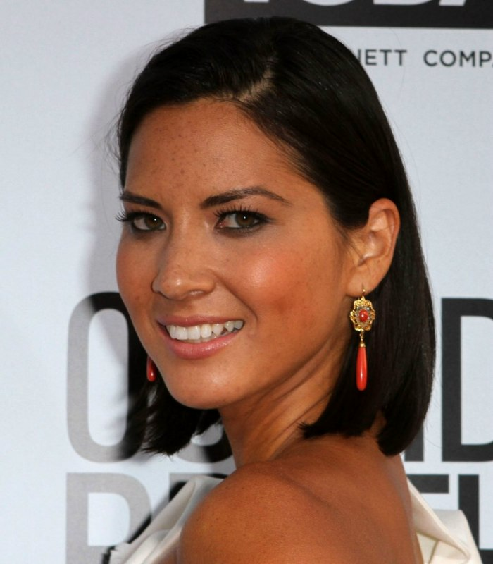 Olivia Munn Sleek Above The Shoulders And Behind The
