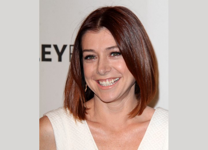 Alyson Hannigan - Above the shoulders hairstyle