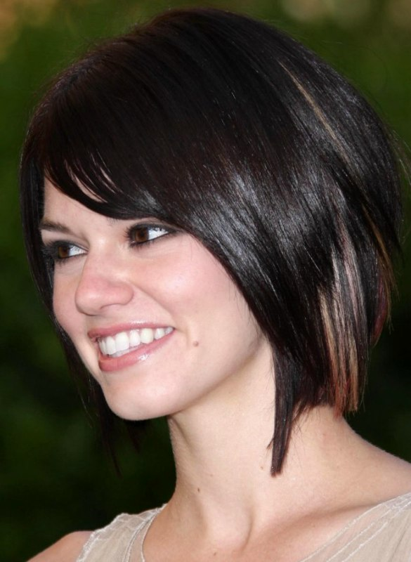 Rachel Melvin Modern Neck Length Bob Hairstyle With A