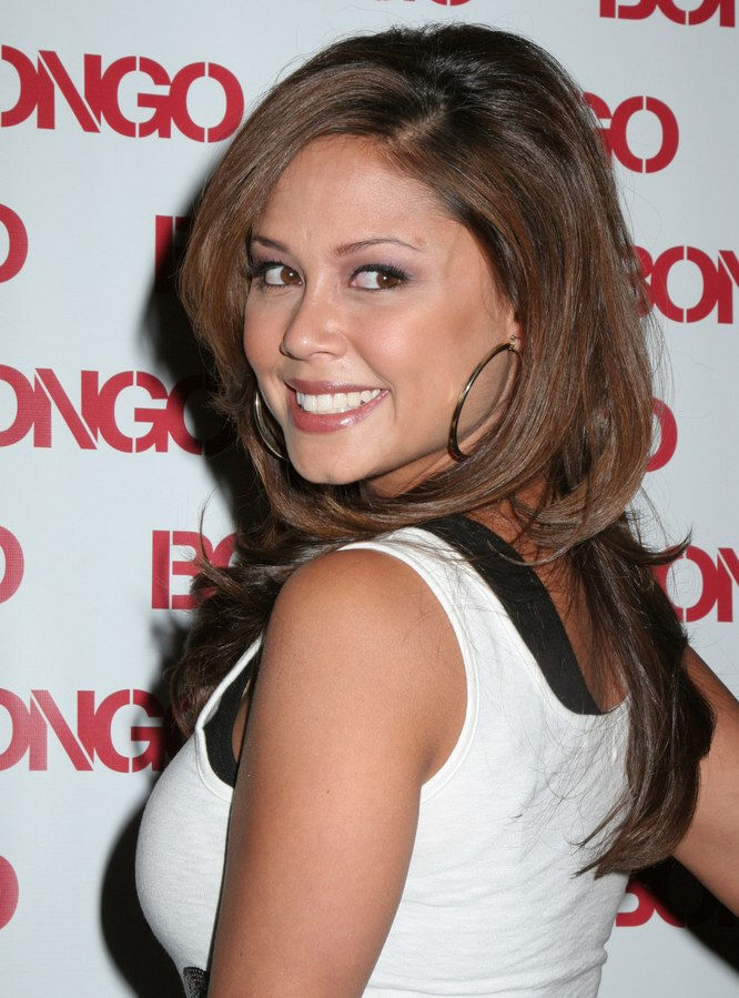 Vanessa Minnillo Long Bra Strap Length Hair Smoothed