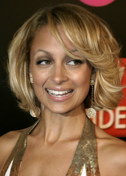 ... Nicole Richie's short curled bob hairstyle - Nicole Richie With Short Hair