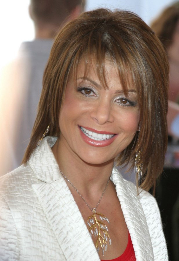 Paula Abdul S Medium Length Hairstyle With Texturized Layers