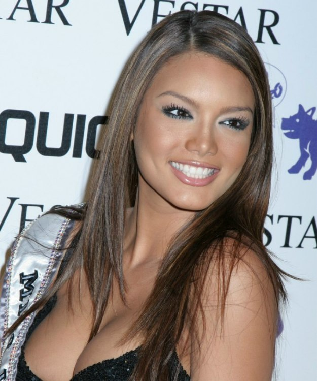 Zuleyka Rivera Exotic Long Hairstyle For Brown Hair