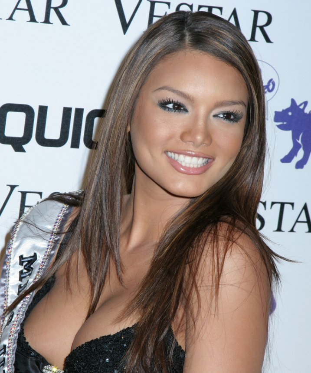 Zuleyka Rivera Exotic Long Hairstyle For Brown Hair