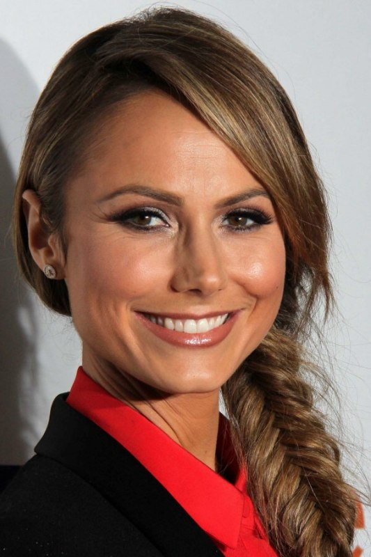 Stacy Keibler Hair Braided Into A Fishtail Or Fishbone Braid