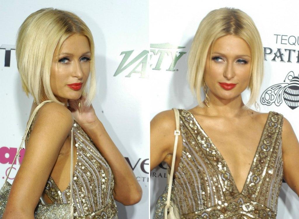 Mena Suvaris Her Hair Cut Midway The Neckline And Paris Hiltons