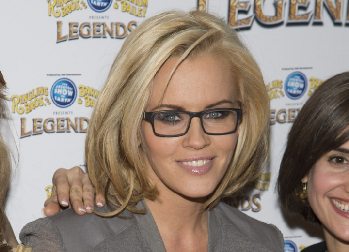 Jenny McCarthy - Long layered bob hairstyle