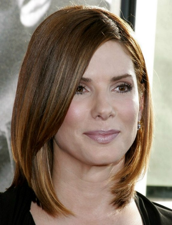 Long Bob Haircut Sandra Bullock