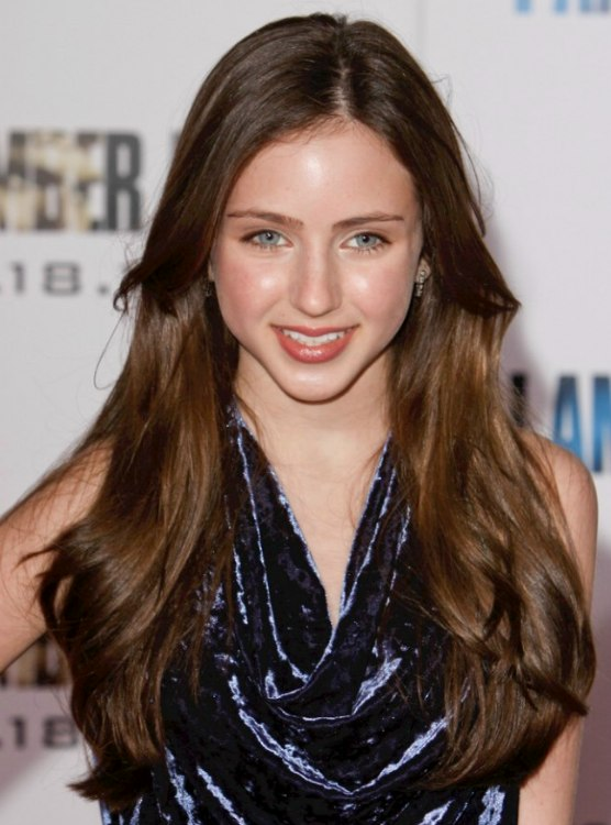Ryan Newman With Long Hair Brushed Below Her Shoulders