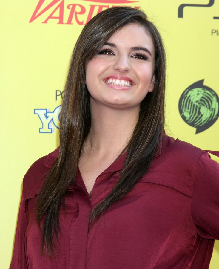 Rebecca Black Long And Smooth Hairstyle With Bangs