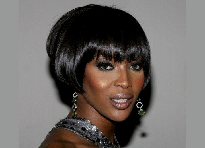 Bob cut for black hair - Naomi Campbell