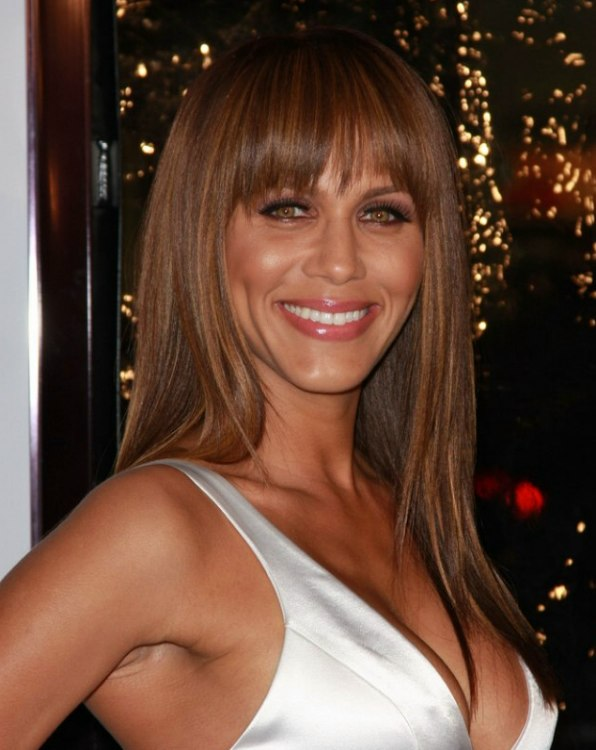 Nicole Ari Parker Wearing Her Hair Long And Smooth With Bangs