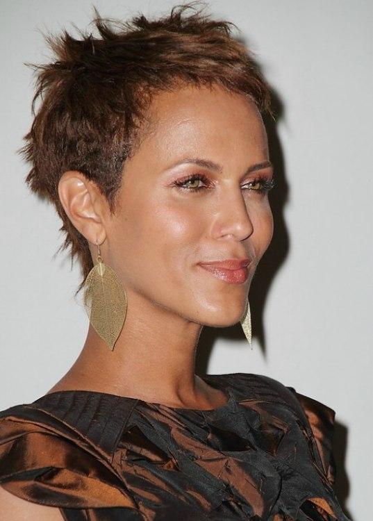 Nicole Ari Parker With Her Hair Cropped Very Short