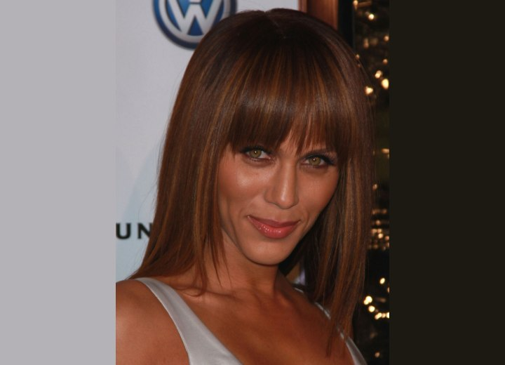 Long brown hair with highlights - Nicole Ari Parker
