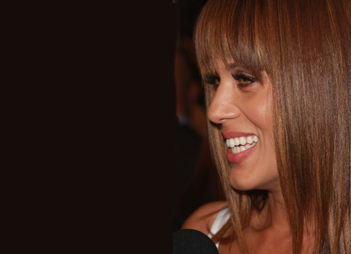 Side view of Nicole Ari Parker's hair