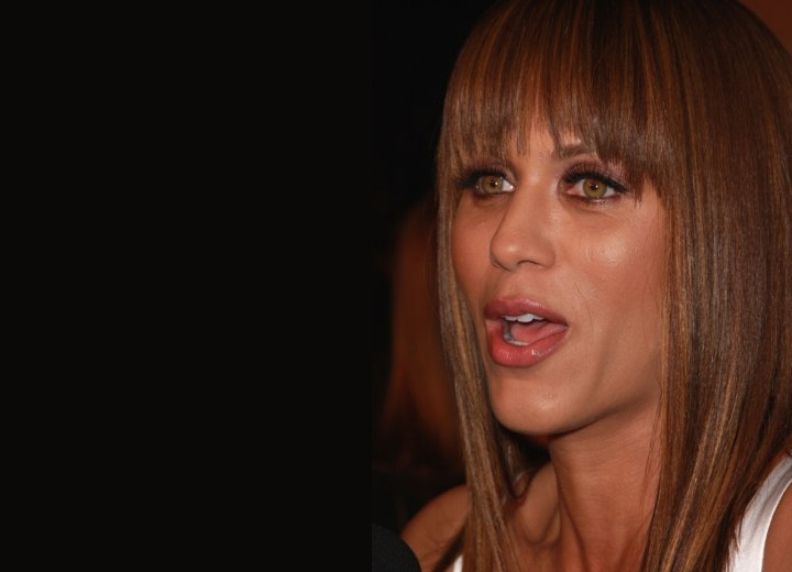 Hair cut with choppy zigzag bangs - Nicole Ari Parker