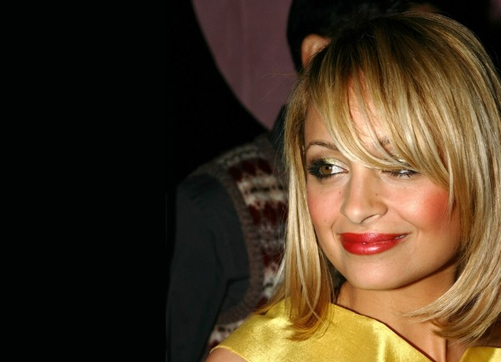 Nicole Richie with her hair in a smooth bob