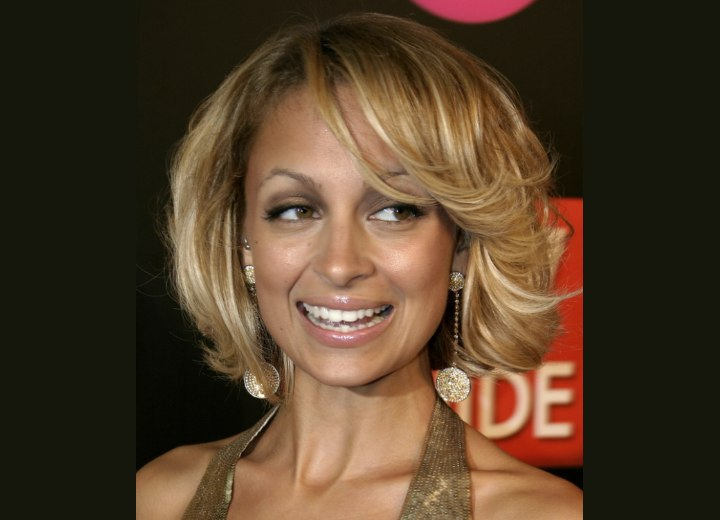Nicole Richie's short curled bob hairstyle