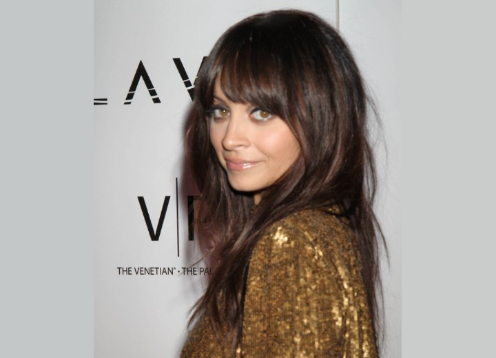 Nicole Richie - Long hairstyle with bangs