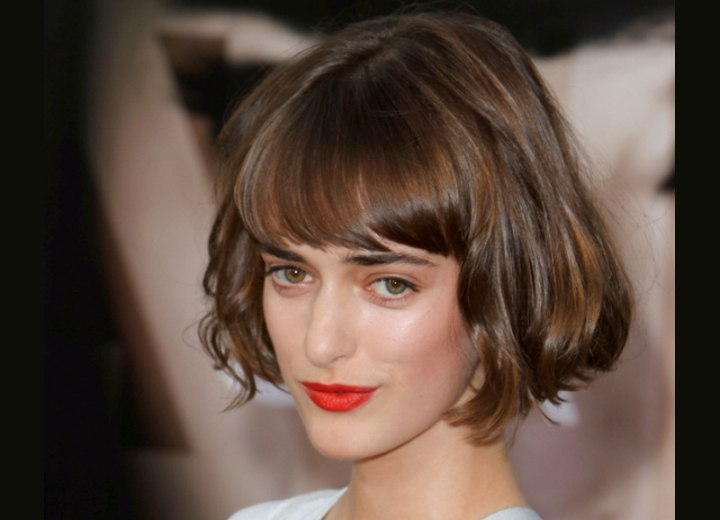 Short bob with curled under ends - Olya Zueva