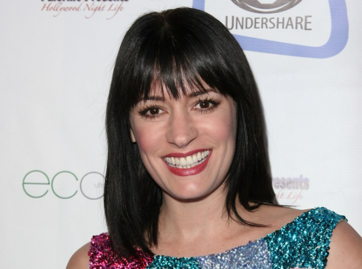 Straight shoulder length hairstyle - Paget Brewster