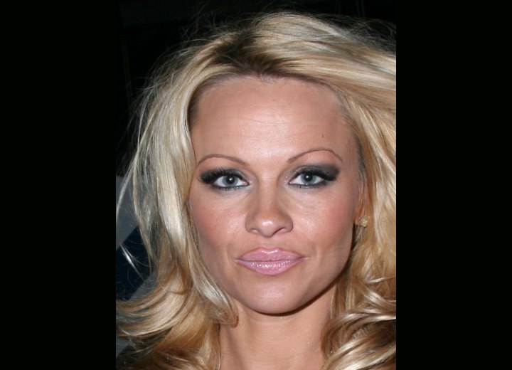 Close up photo of Pamela Anderson's hair