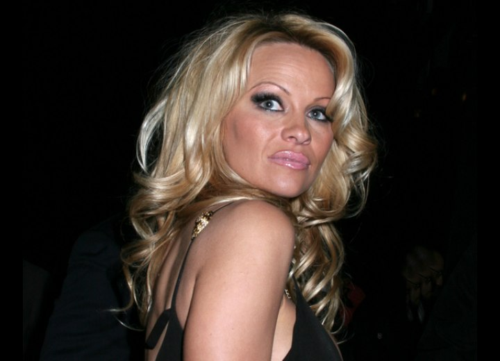Pamela Anderson's golden blonde hair