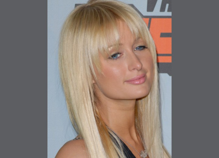 Close up photo of Paris Hilton's hair