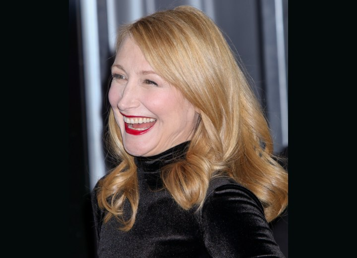 Youthful look with long hair - Patricia Clarkson