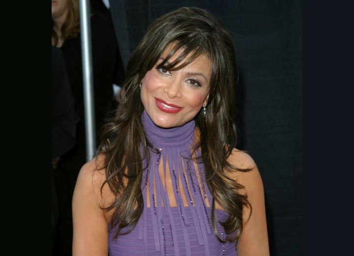 Paula Abdul - Very long wavy hairstyle