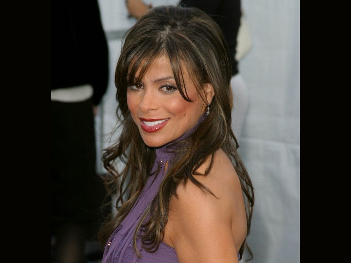 Wild hairstyle for long hair - Paula Abdul