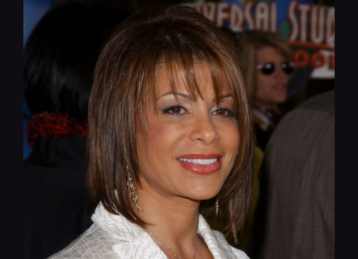 Side view of Paula Abdul's hairstyle