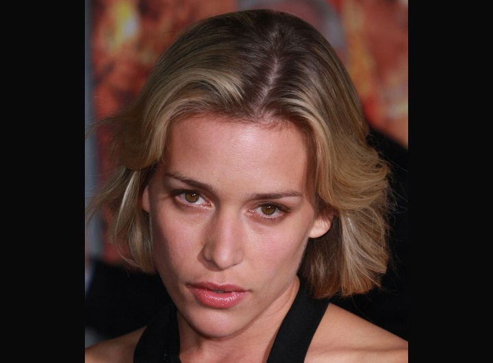 Crown view of Piper Perabo's hair