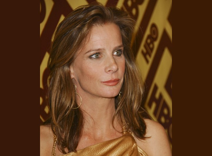 Rachel Griffiths - Hairstyle with the hair away from the forehead