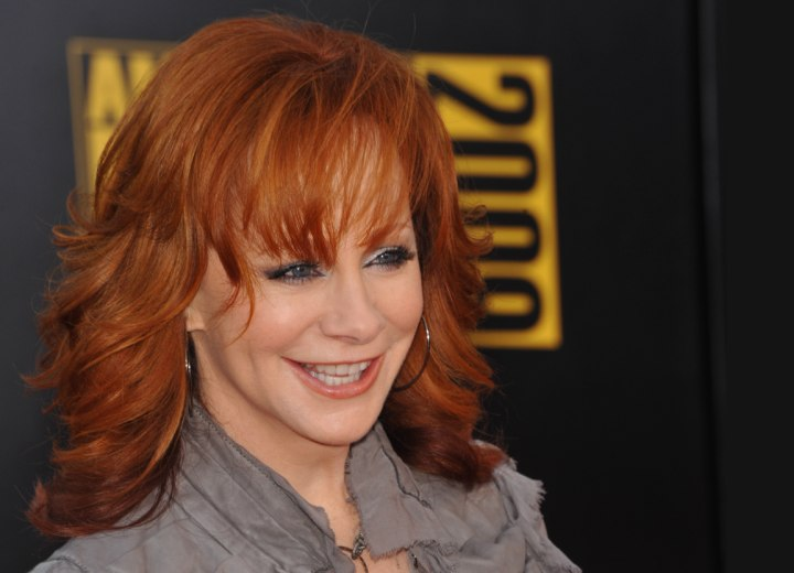 Long hairstyle for 50 plus women - Reba McEntire