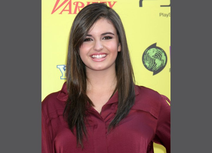 Rebecca Black sporting a long smooth hairstyle