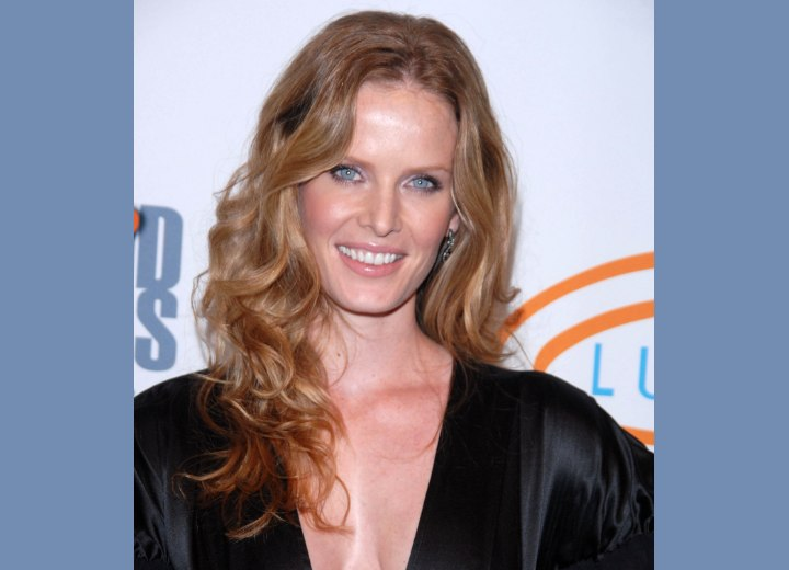 Rebecca Mader's healthy and shiny long hair