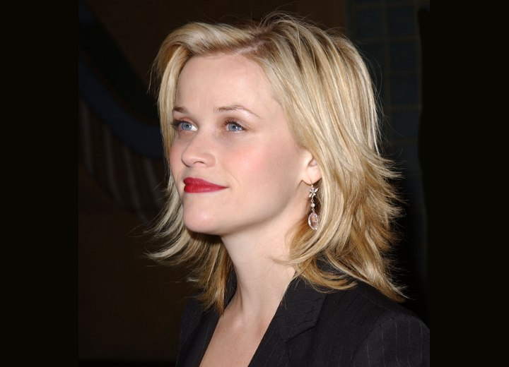 Side view of Reese Witherspoon's hairstyle