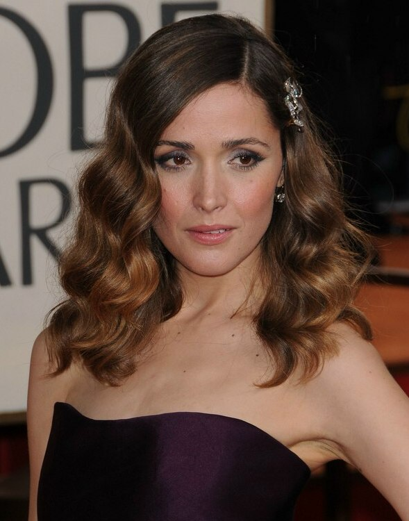 Rose byrne wearing her long hair with a large side barrette rose byrne charming long hairstyle with waves urmus Choice Image
