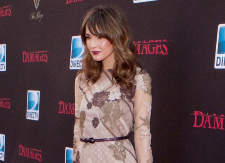 Dress and hair for a Rose Byrne look