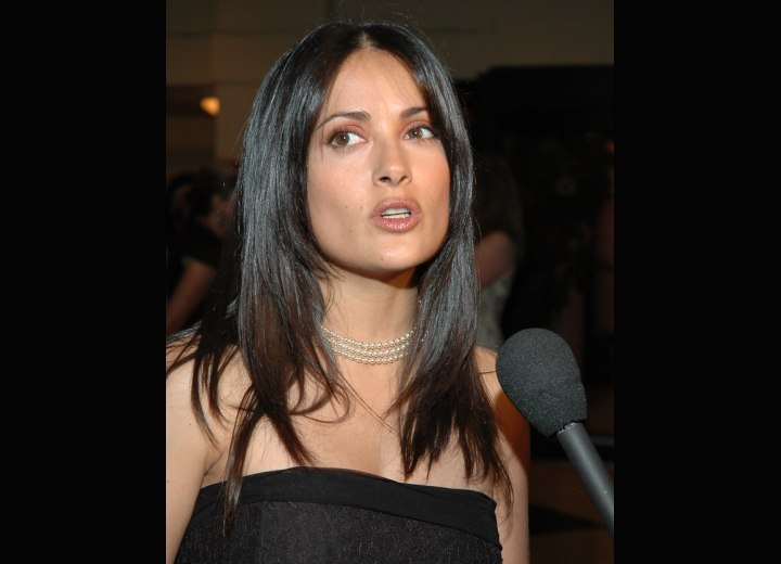 Hair and dress for a Salma Hayek look