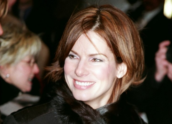 Young and modern hairstyle - Sandra Bullock