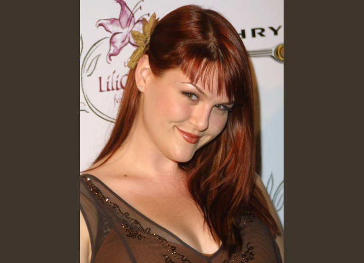 Sara Rue - Long hairstyle for straight hair