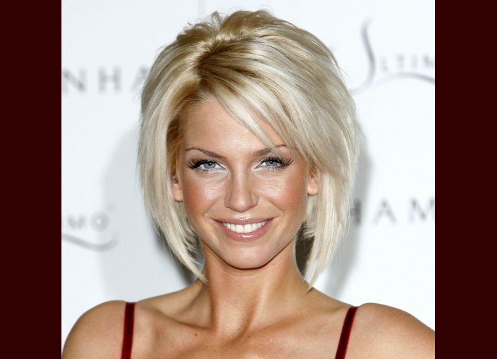 Sarah Harding - Bob haircut with a clipped up back