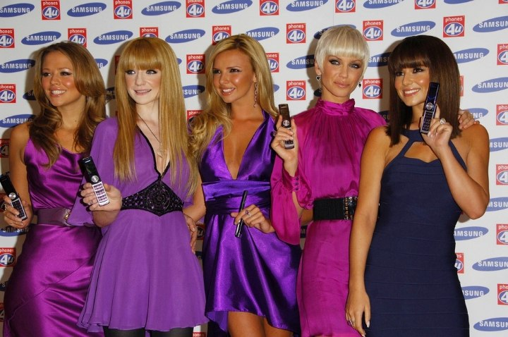Girls Aloud with Sarah Harding