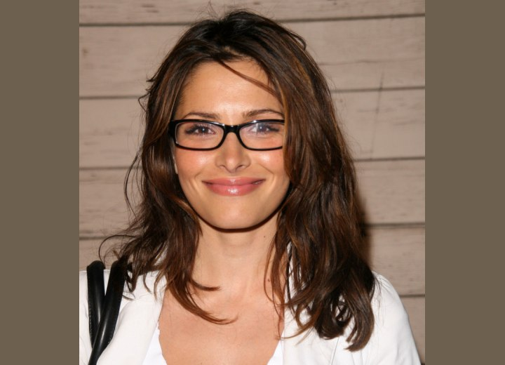 Long hair and eyeglasses - Sarah Shahi