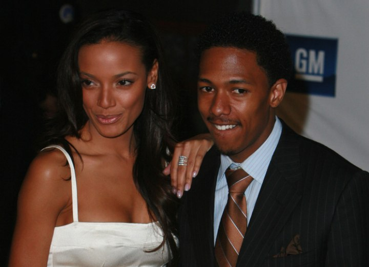 Selita Ebanks wearing a white satin dress