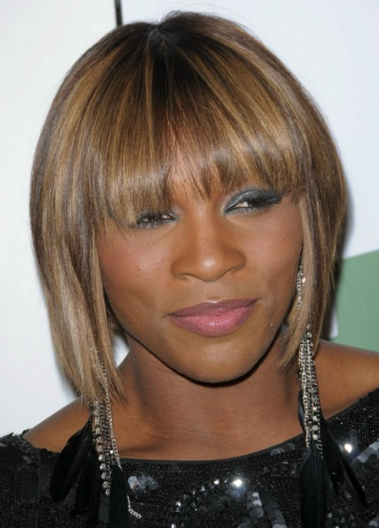 serena williams new hair style serena williams wearing hair midway upon neck 8583